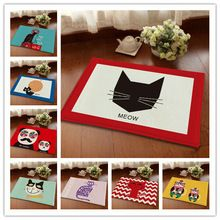 New cute cat modello auto carpet floor mat cucina decorazione della casa porta corridoio mat europa tappeto per soggiorno bagno 20 colori(China (Mainland))