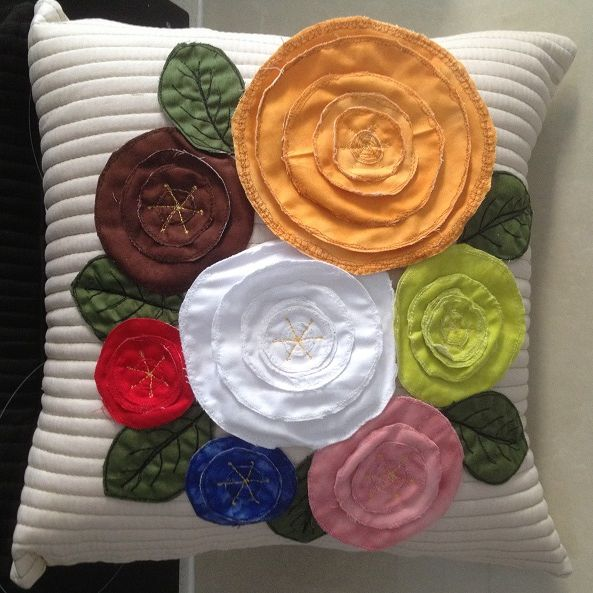 Flower Cushion  -  $35.00 for sale on www.catchacreation.com.au Green Gable Quilts