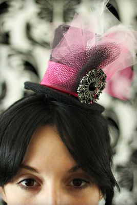 DIY Mini Top Hat for Steampunk, Burlesque or Victorian costumes.