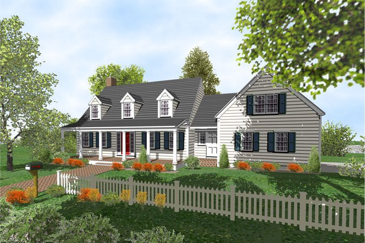 Cape cod houses with three car garages cape cod 2 story for Cape style homes for sale