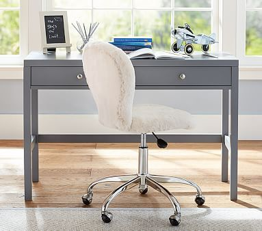 Preston Desk, charcoal #pbkids - Option #1 (perfect size and color) Maybe change the nobs to a antiqued brass finish to coordinate with room