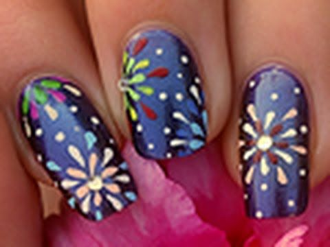 best 25 firework nails ideas on pinterest new years