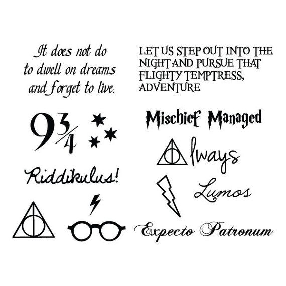 Harry Potter – are you a magician! Temporary Tattoo (set of 24)