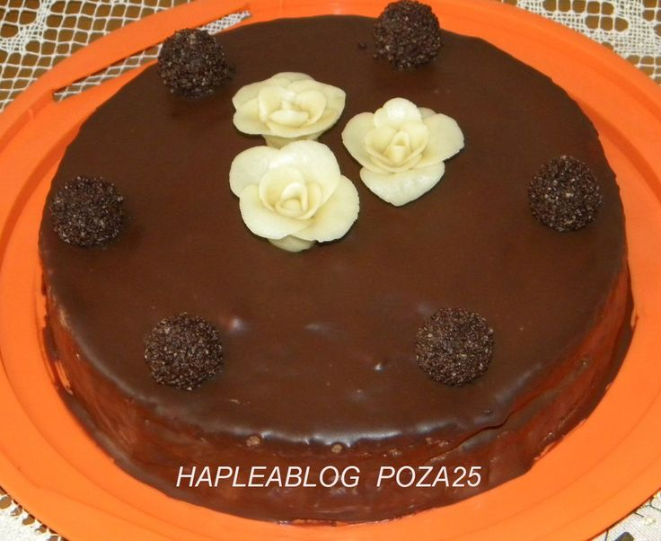 tort cu crema ganache de ciocolata 25
