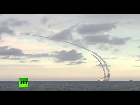 Russian Caspian Sea fleet launches cruise missiles against ISIS sites in...