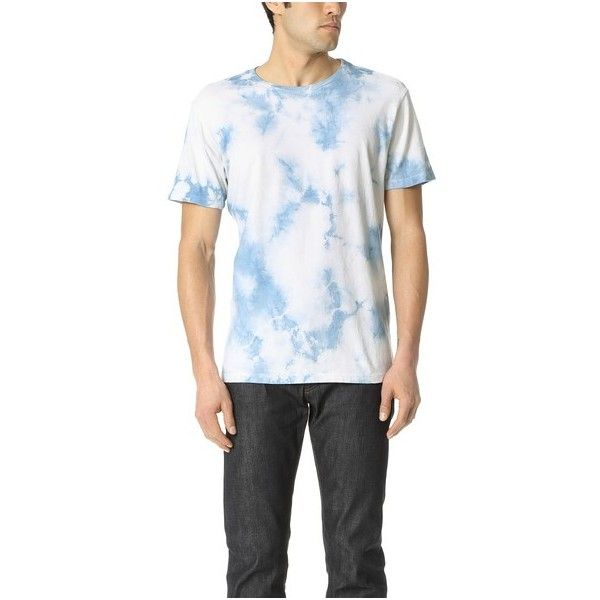 Mollusk Best Tee Ever ($51) ❤ liked on Polyvore featuring men's fashion, men's clothing, men's shirts, men's t-shirts, indigo tie dye, mens tie dye shirts, mens crew neck t shirts, mens cotton t shirts, mens short sleeve shirts and j crew mens shirts