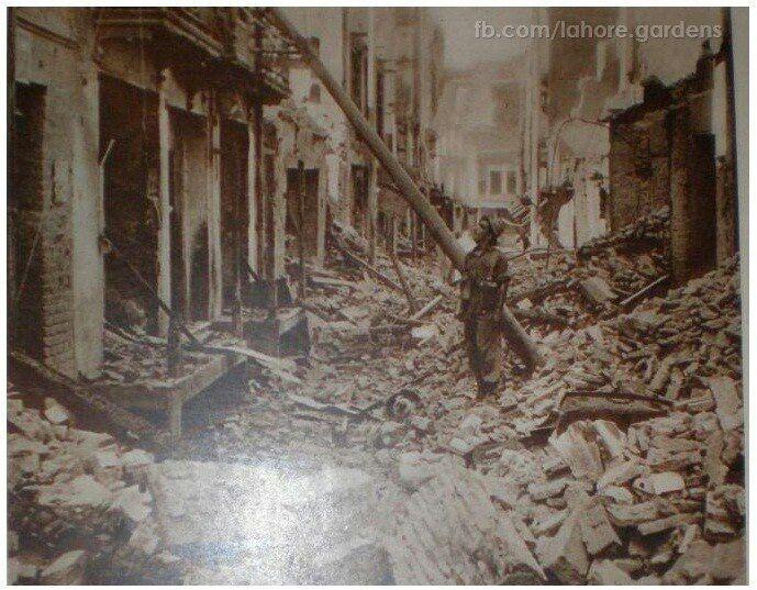 Pakistan Lahore - partition 1947 destruction.