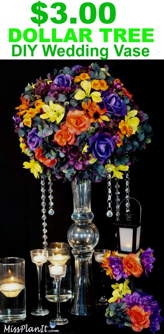 How To Make A Tall Fall Wedding Centerpiece With A 3 Diy Dollar