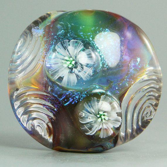 handmade lampwork focal bead by ikuyo sra