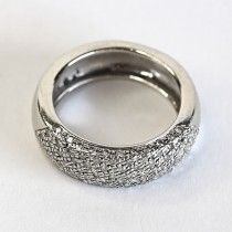 elegant white gold ring with diamond accents. $935