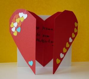 Bastelideen/Muttertagskarte klein