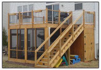 screened in porch underneath a deck   Screen Porches Curt's Custom Decks, Screen Porches, 3-Season Porches