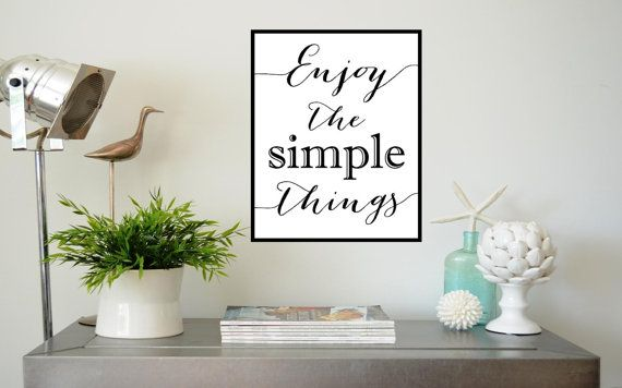 Enjoy The Simple Things Calligraphy Quote. by PrintableExpressions