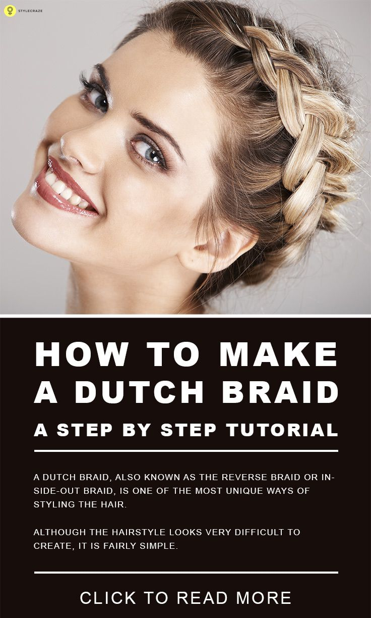Step By Step Diagram Template: How To Make A Dutch Braid: A Step By Step Tutorial