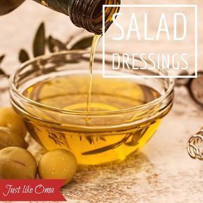 Looking for an easy salad dressing? Just like the one your Oma made? Here are several to choose from as starters and then alter them to make them just the way you love. Check out http://www.quick-german-recipes.com/easy-salad-dressing.html