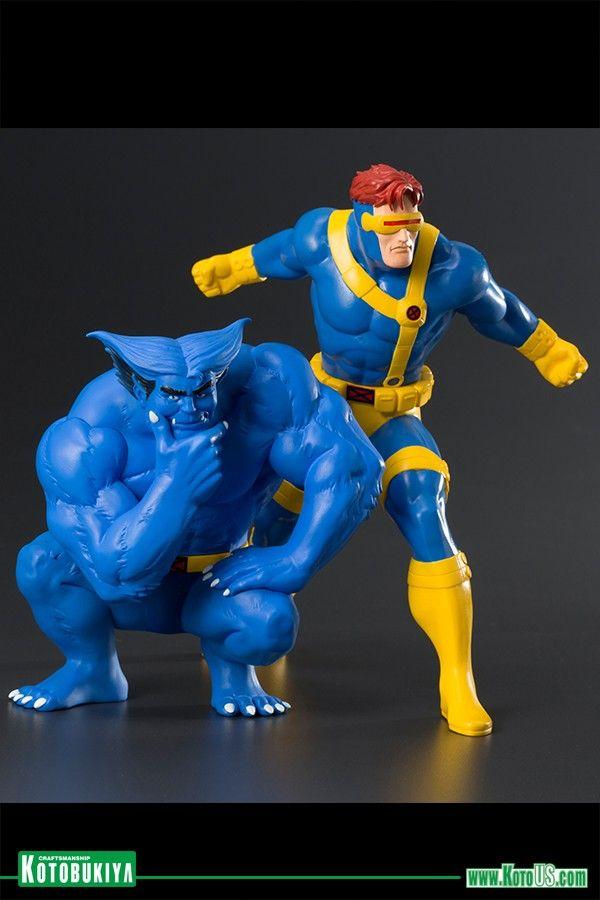 Cyclops And Beast X Men Animated Series Statues On The Way From Kotobukiya Cyclops Marvel Cyclops X Men