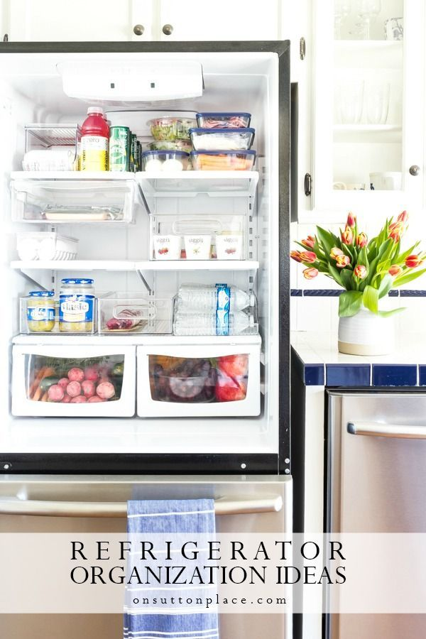 Easy Refrigerator Organization Ideas Refrigerator Organization