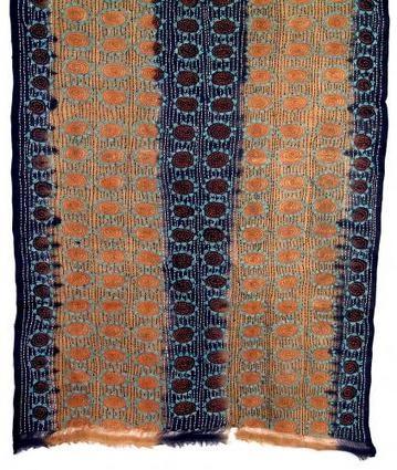 Kantha silk embroidery from Bangladesh.