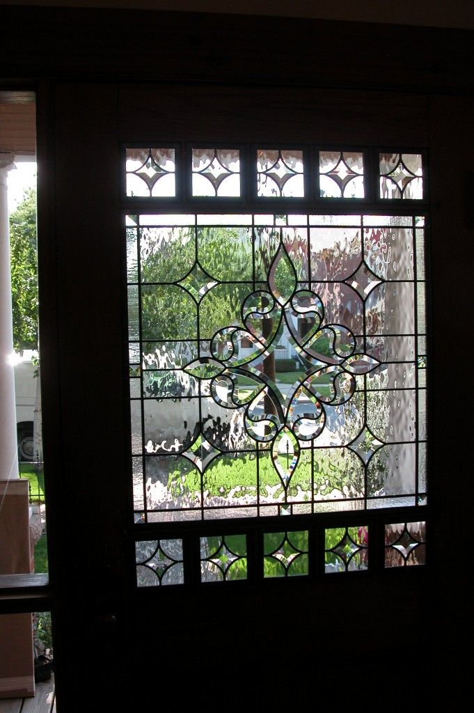 Clear Leaded Glass : Best stained glass clear beveled images on