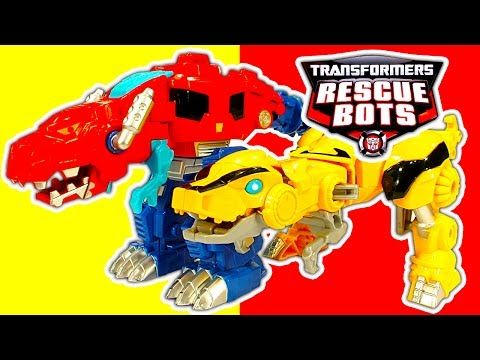 Play Skool Heroes Transformers Rescue Bots Unboxing Bumblebee Rescue Garage Chase the Police Bot - YouTube