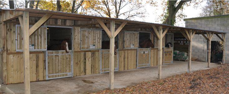 Une gamme d 39 abris et de boxes avec ossature en acier galvanis chaud b timents sur mesure - Porte de box pour chevaux a vendre ...