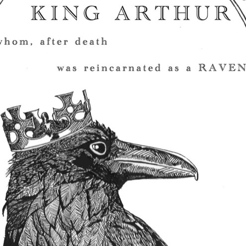 King Arthur, the mythical 6th-century British king. One recurring aspect of Arthurian literature was the notion that he would one day return as a raven. The raven is a bird strongly associated with myth and legend. In Wales and the West Country, it was held to be a royal bird. ❤❦♪♫
