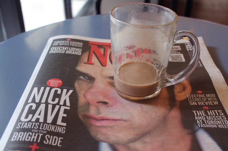 Now magazine and latte