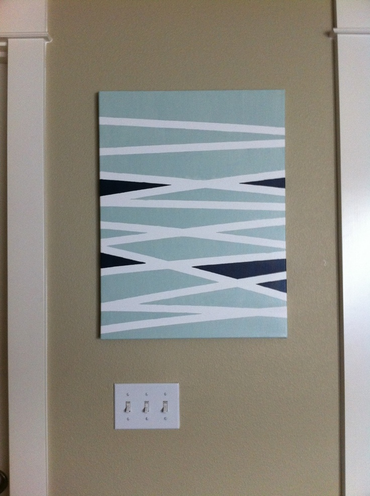 Diy Wall Art Canvas Tape : Best ideas about painters tape art on