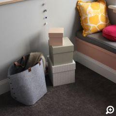 Godfrey Hirst   Girls Bedroom   The Home Team TV   Get the look with eco+ Sunrise in Summer Storm. #godfreyhirst #boysbedroom #carpet #ecopluscarpet #kidsbedroom