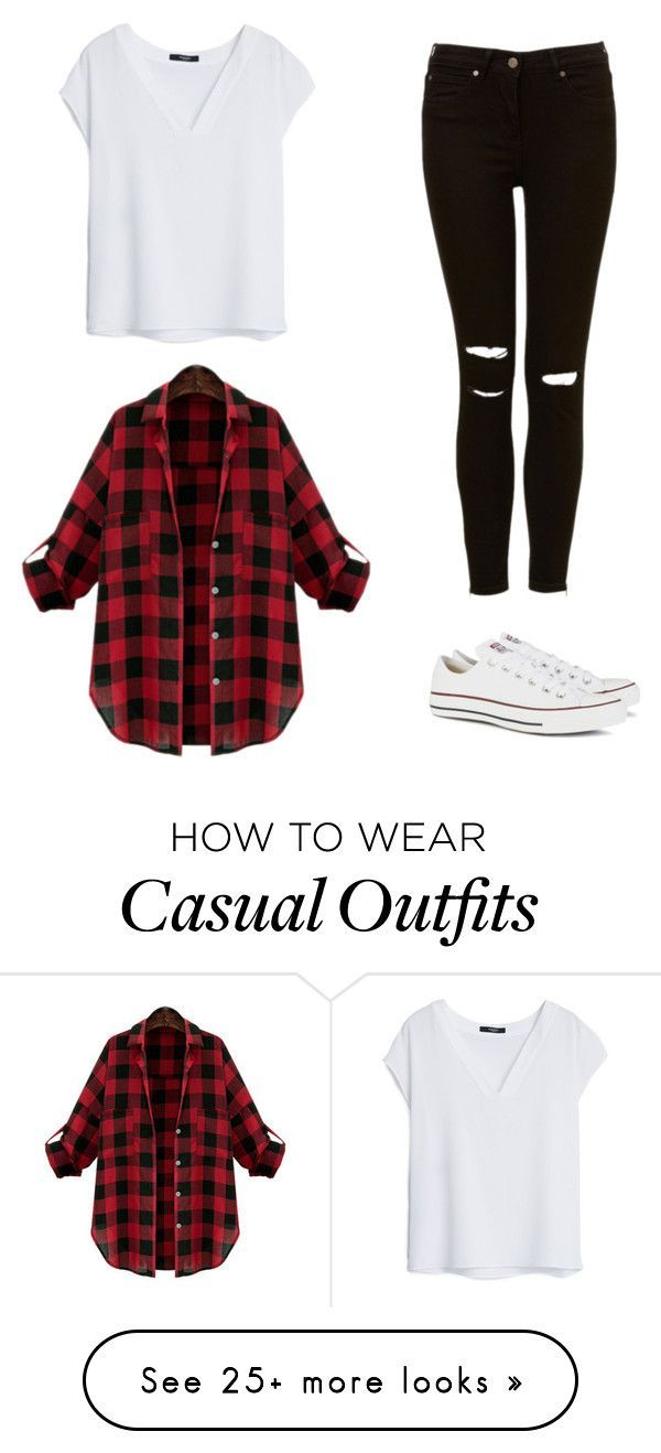 """casual Sundays"" by ennayefits on Polyvore featuring MANGO and Converse..."