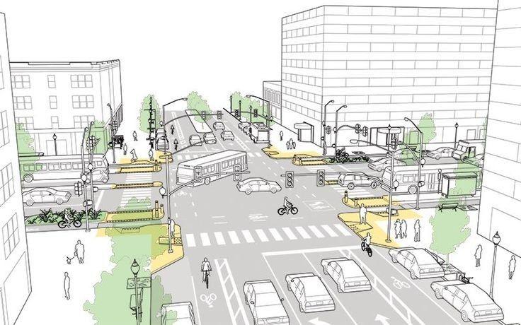 5 propostas de cruzamentos mais seguros para diferentes modais de transporte   ArchDaily Brasil