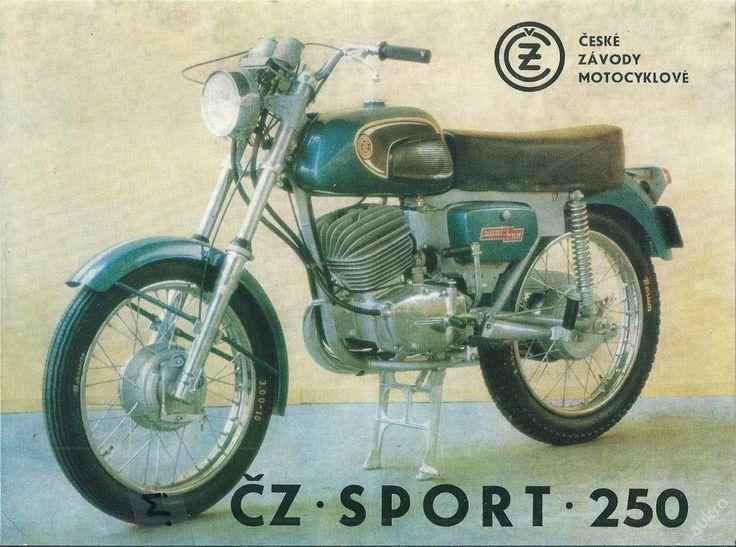 Prospekt na motocykl ČZ sport 250 - nejlepší civilní verze / obraz