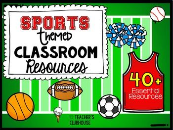 This Sports Theme resource pack was completely updated in May 2016.  It is an ALL NEW resource with everything you need for a Sports Themed classroom!This Sports theme pack includes everything you need to turn your classroom into a fun, engaging learning environment!