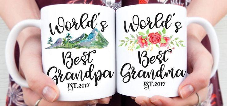 World's Best Grandparents mugs kitchen Decor ceramic art home decal whisky  wine beer milk tea porcelain coffee mug