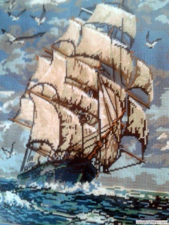 Fragata inglesa en petit point (Scarlett's Creaciones)