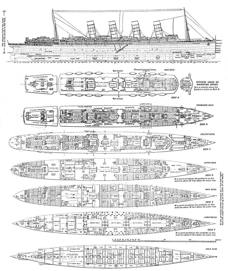 deck plans for the lusitania  modifications were made both