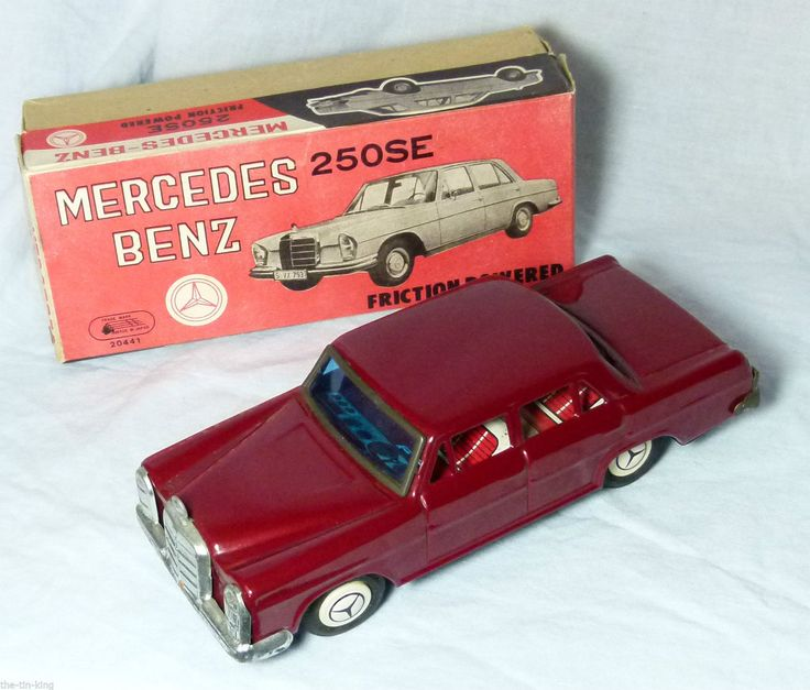 RARE BOXED FRICTION DRIVE MERCEDES BENZ 250SE MADE IN JAPAN NEAR MINT | eBay