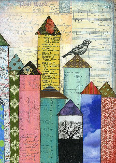 Collage Art Journals | have an art journal that is devoted to collage with scraps and I ...