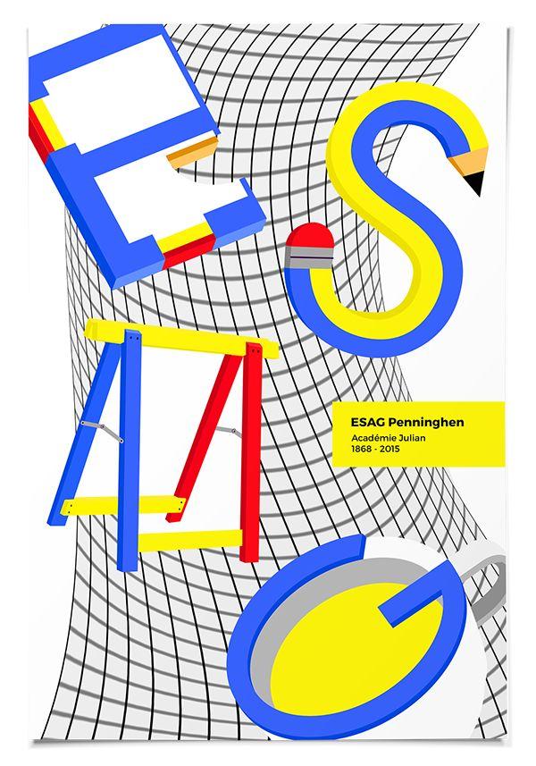 ESAG Penninghen / Design School Posters on Behance