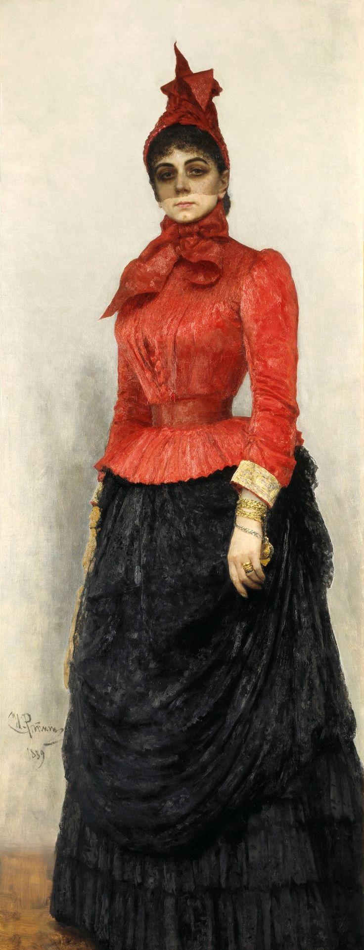 И. Репин. «Дама в красном платье» (портрет В. И. Икскуль фон Гильденбанд. 1889. ГТГ