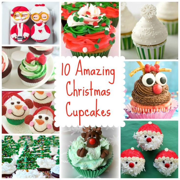 My Top 10 Favourite Christmas Cupcake inspiration from Pinterest and Instagram