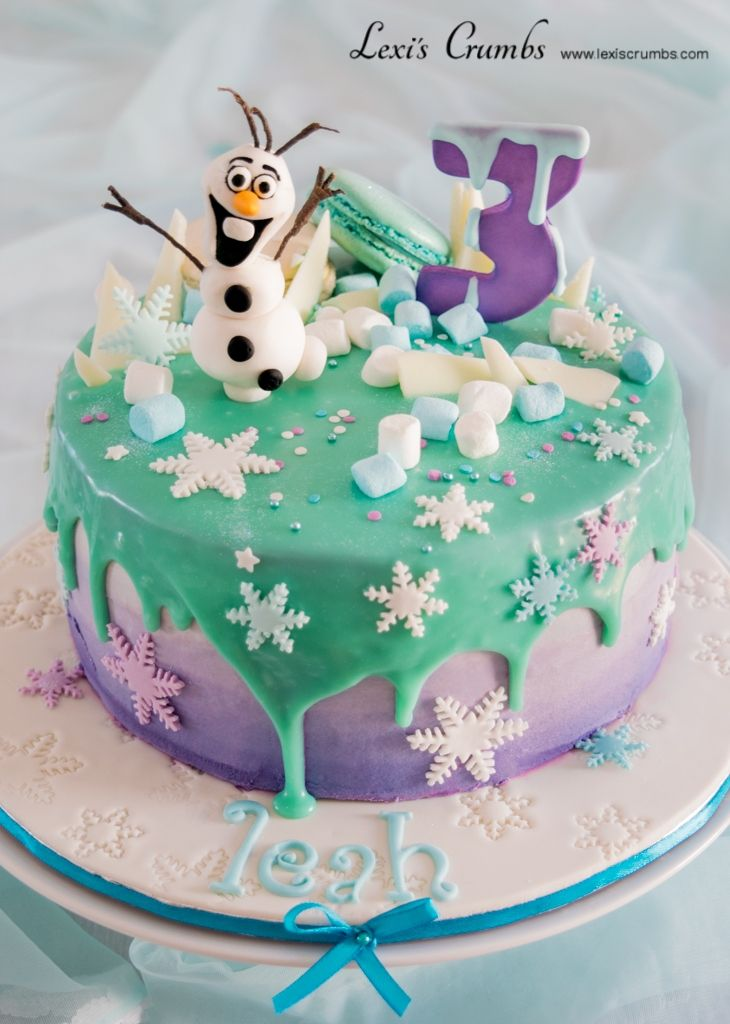 Blue & purple drip cake www.lexiscrumbs.com