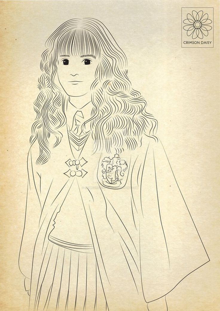 Line Drawing Harry Potter : Best ideas about hermione granger art on pinterest