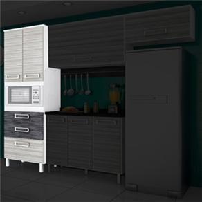 Paneleiro Bartira Absoluta com 2 Portas, 3 Gavetas e Espaço para Micro-ondas