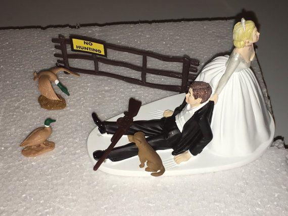 Duck Hunting Wedding Cake Topper Groom's Cake Brown by finsnhorns