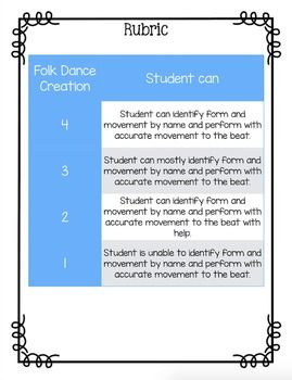 Folk Dance Creation Lesson Plan by Mrs Stouffer's Music Room | Teachers Pay Teachers