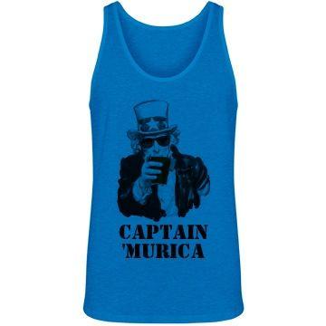 Captain 'Murica Tank | Captain Murica Uncle Sam Drinking Tank