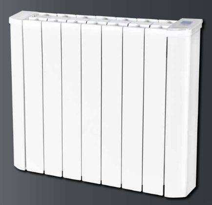 RADIATEUR ELECTRIQUE - radiateur à inertie fluide en Aluminium - Électronique Digitale avec programmation, détection d'ouverture de fenêtre, limite de réglage de la température, verrouillage par code PIN, jauge de consommation - En option détecteur de présence et d'absence - Fil pilote 6 ordres - Installation neuve ou rénovation - à partir de 354 €
