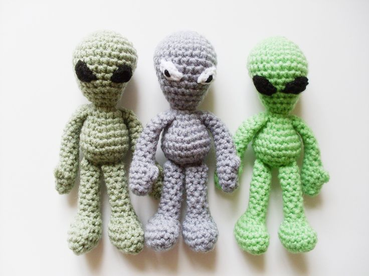Easy Doll Crochet Pattern: Grey Alien Amigurumi inspired ...