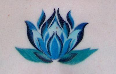 small blue lotus tattoo - Google Search